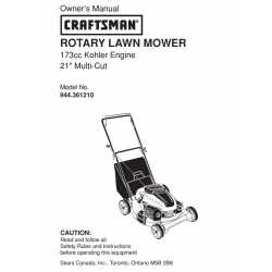 Craftsman lawn mower parts Manual 944.361210