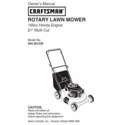 Craftsman lawn mower parts Manual 944.361230