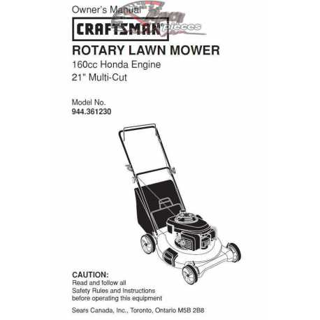 Craftsman lawn mower parts Manual 944.361230