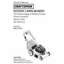 Craftsman lawn mower parts Manual 944.101760