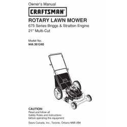 Craftsman lawn mower parts Manual 944.361240
