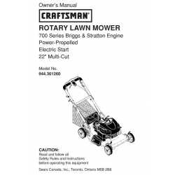 Craftsman lawn mower parts Manual 944.361260