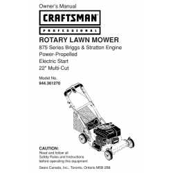 Craftsman lawn mower parts Manual 944.361270