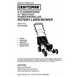 Craftsman lawn mower parts Manual 944.361281
