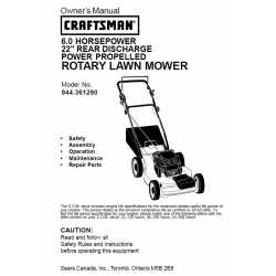 Craftsman lawn mower parts Manual 944.361290