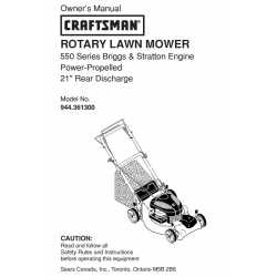 Craftsman lawn mower parts Manual 944.361300