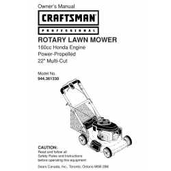 Craftsman lawn mower parts Manual 944.361330