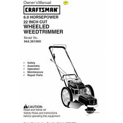 Craftsman lawn mower parts Manual 944.361061