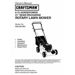 Craftsman lawn mower parts Manual 944.361401