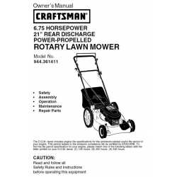 Craftsman lawn mower parts Manual 944.361411