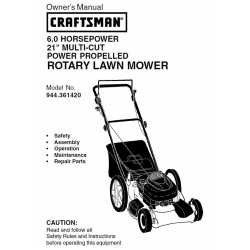 Craftsman lawn mower parts Manual 944.361420