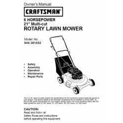 Craftsman lawn mower parts Manual 944.361452