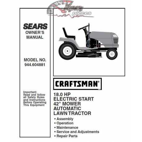 Craftsman Tractor Parts Manual 944.604881