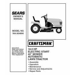 Craftsman Tractor Parts Manual 944.604890
