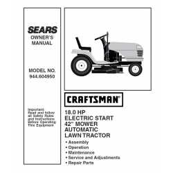 Craftsman Tractor Parts Manual 944.604950