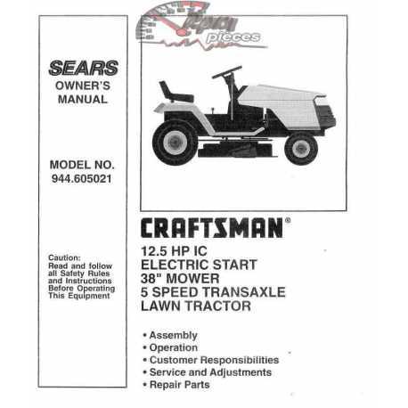 Craftsman Tractor Parts Manual 944.605021