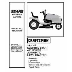 Craftsman Tractor Parts Manual 944.605060