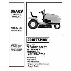 Craftsman Tractor Parts Manual 944.605061