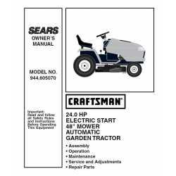 Craftsman Tractor Parts Manual 944.605070