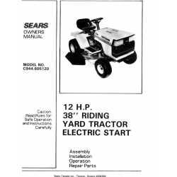 Craftsman Tractor Parts Manual 944.605120