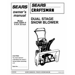 Craftsman snowblower Parts Manual C950-52948-0