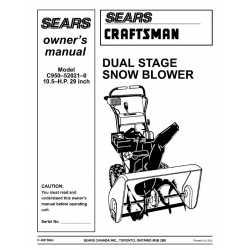 Craftsman snowblower Parts Manual C950-52021-0