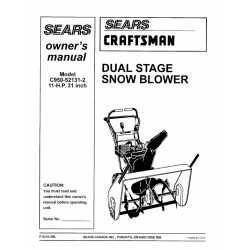 Craftsman snowblower Parts Manual C950-52131-2