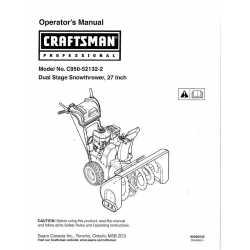 Craftsman snowblower Parts Manual C950-52132-2