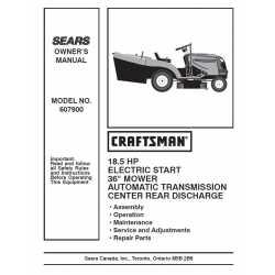 Craftsman Tractor Parts Manual 944.607900