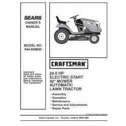 Craftsman Tractor Parts Manual 944.608830