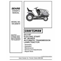 Craftsman Tractor Parts Manual 944.609070