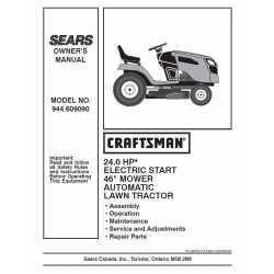 Craftsman Tractor Parts Manual 944.609090